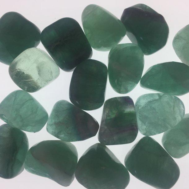 Fluorit grøn lommestørrelse 12-16 g