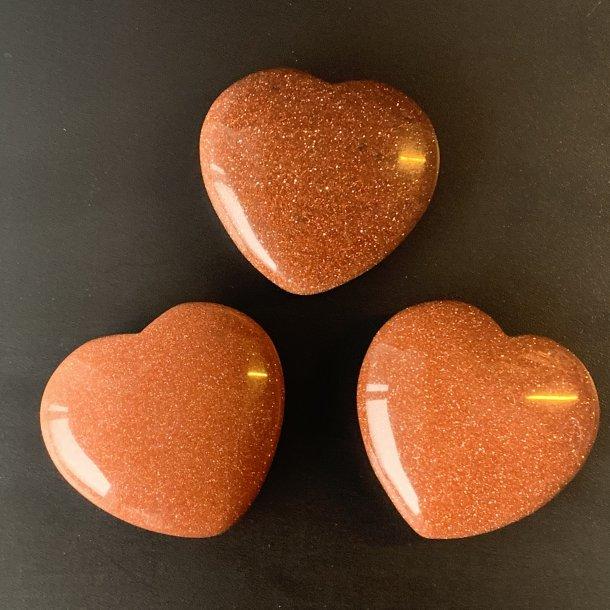 Hjerter Guldsten fin størrelse 40 mm