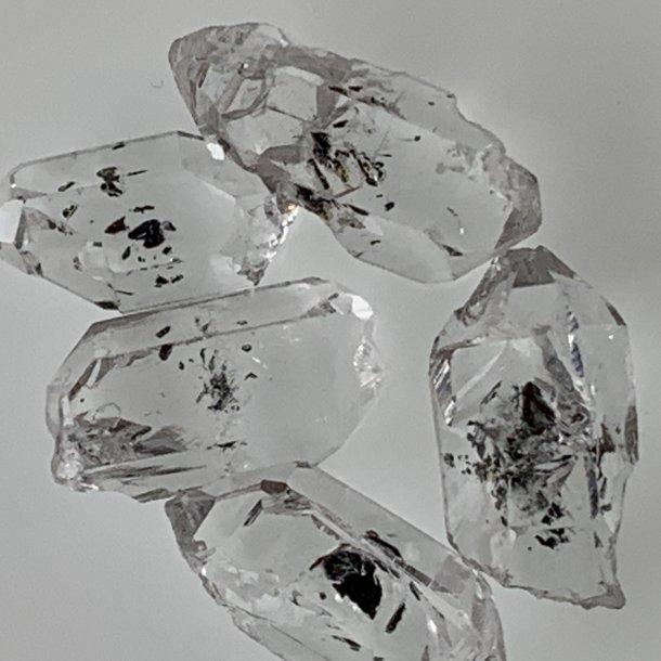 Herkimer Diamant små og meget fine 1 g, 10-15 mm