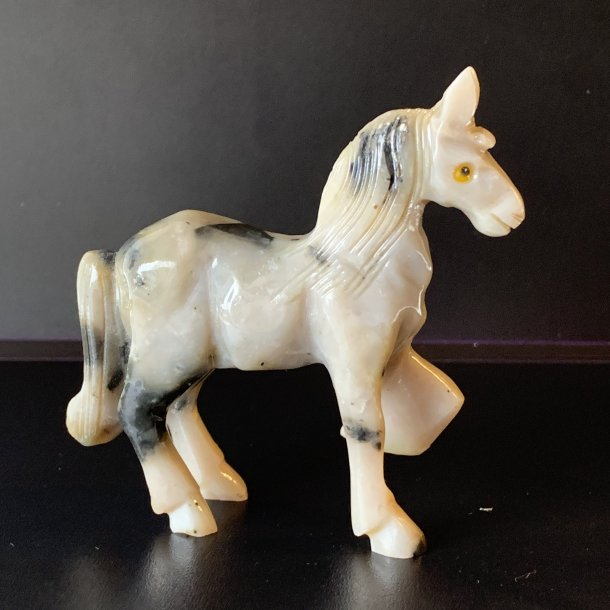 Hest lys i pyrophyllit 80mm
